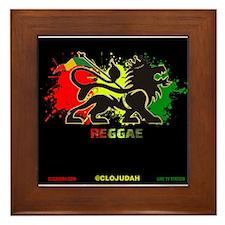 Lion of Judah Reggae Framed Tile
