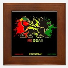 Lion of Judah Reggae Framed Tile
