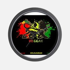Lion of Judah Reggae Wall Clock