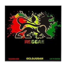 Lion of Judah Reggae Tile Coaster