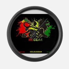 Lion of Judah Reggae Large Wall Clock
