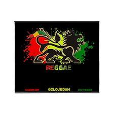 Lion of Judah Reggae Throw Blanket