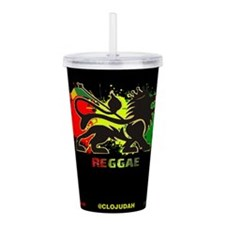 Lion of Judah Reggae Acrylic Double-wall Tumbler
