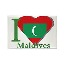 I love Maldives Rectangle Magnet