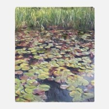 Lily Pond Throw Blanket