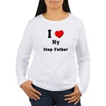I Love Step-Father Women's Long Sleeve T-Shirt