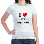 I Love Step-Father Jr. Ringer T-Shirt