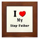 I Love Step-Father Framed Tile