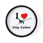 I Love Step-Father Wall Clock