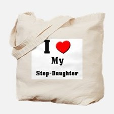I Love Step-Daughter Tote Bag