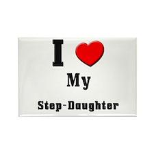 I Love Step-Daughter Rectangle Magnet