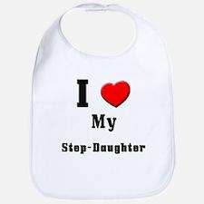 I Love Step-Daughter Bib