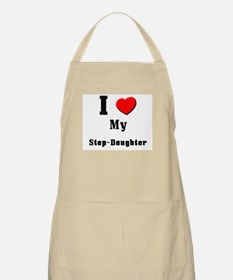 I Love Step-Daughter BBQ Apron