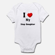 I Love Step-Daughter Infant Bodysuit