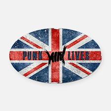 Punk Lives-BRITISH FLAG Oval Car Magnet