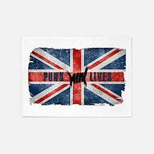 Punk Lives-BRITISH FLAG 5'x7'Area Rug