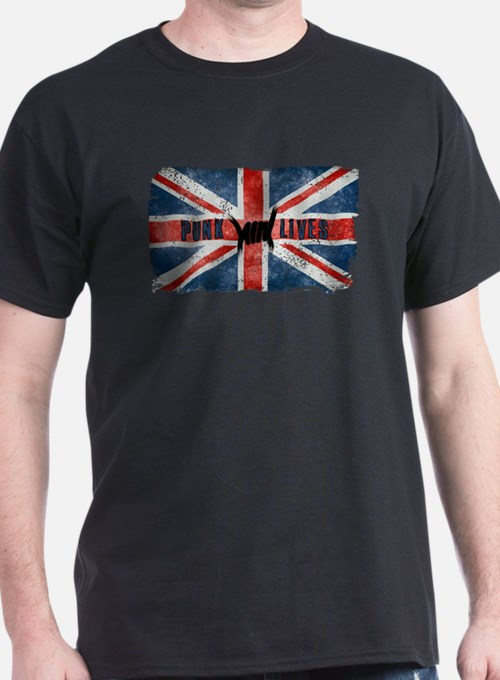 Punk Lives-BRITISH FLAG T-Shirt