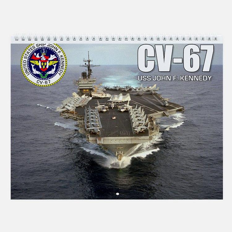USS John F. Kennedy CV-67 Wall Calendar