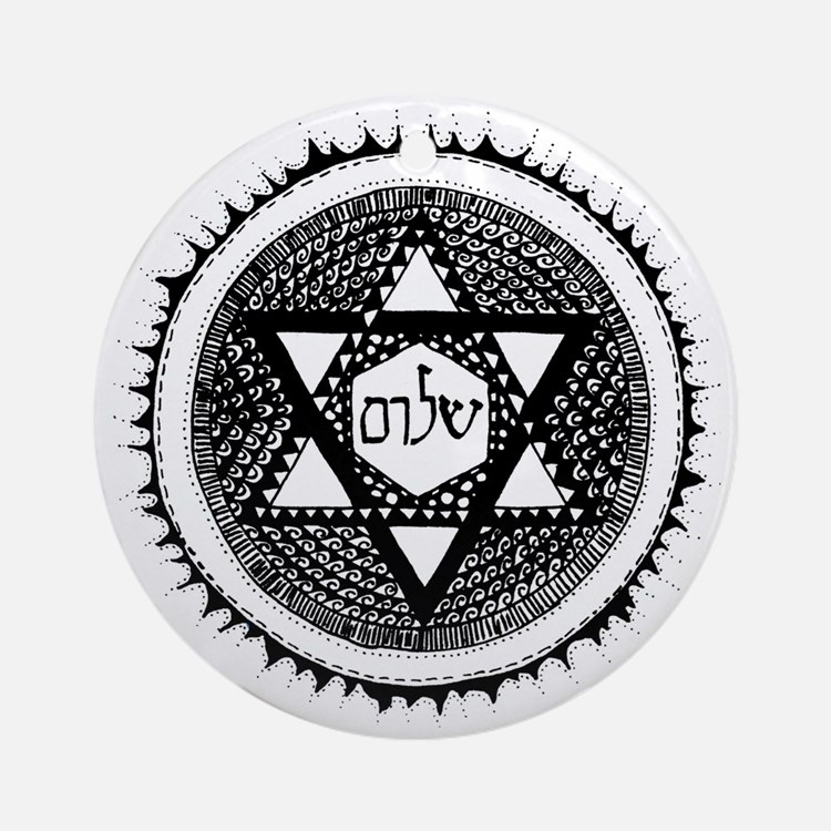 shalom Ornament (Round)