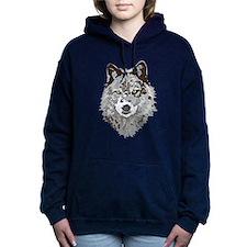 Unique Wolf totem Women's Hooded Sweatshirt