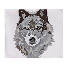 Unique Spirit of the wolf Throw Blanket