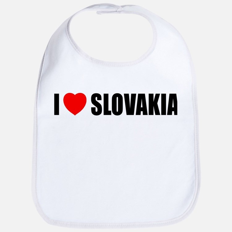 I Love Slovakia Bib