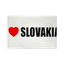 I Love Slovakia Rectangle Magnet
