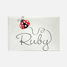 Ladybug Ruby Magnets