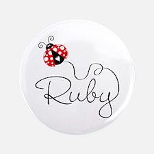 "Ladybug Ruby 3.5"" Button"