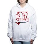 JESUS IS MY SENSEI 1c.jpg Women's Hooded Sweatshir