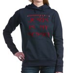 Red Katanaoilb.jpg Women's Hooded Sweatshirt