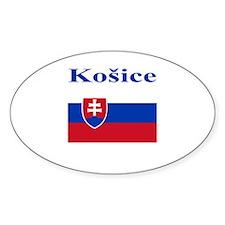 Kosice, Slovakia Oval Decal