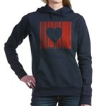 heart barcode.jpg Women's Hooded Sweatshirt
