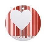 heart barcode.jpg Ornament (Round)