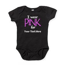 Custom Pink Baby Bodysuit