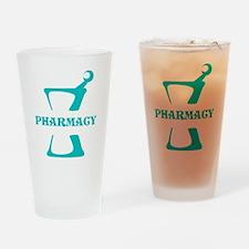 Aqua Mortar and Pestle Drinking Glass