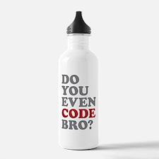 Do You Even Code Bro Water Bottle