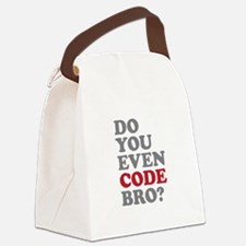 Do You Even Code Bro Canvas Lunch Bag