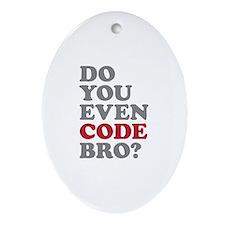 Do You Even Code Bro Ornament (Oval)
