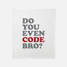 Do You Even Code Bro Throw Blanket