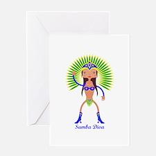 Brazillian Samba Dancer Greeting Cards