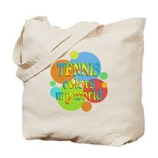 Tennis Colors My World Tote Bag