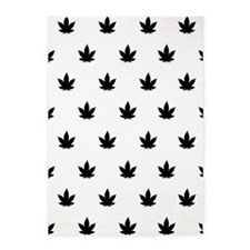 Marijuana Leaf Pattern 5'x7'Area Rug