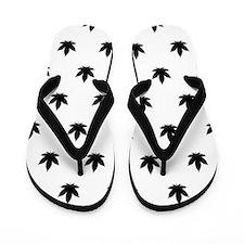 Marijuana Leaf Pattern Flip Flops