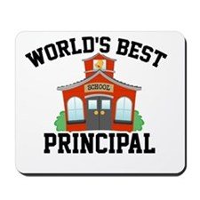 Worlds Best Principal School House Mousepad