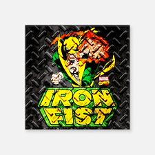 """Iron Fist Metal Square Sticker 3"""" x 3"""""""