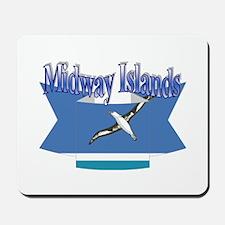 Midway Islands flag ribbon Mousepad