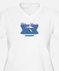 Midway Islands flag ribbon T-Shirt