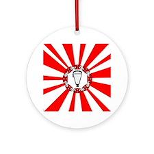 Lacrosse Rising Sun Ornament (Round)