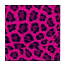 Cute Hot pink Tile Coaster